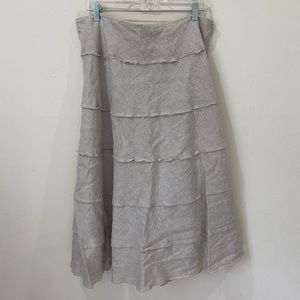 STYLE & CO | Linen Tiered A-Line Maxi Skirt Sz 16